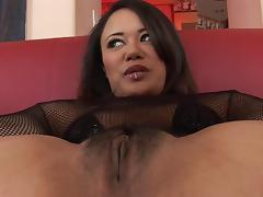 Asian beauty Annie Cruz gets her ass reamed by some big black cock tube porn video