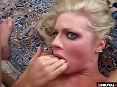 Blonde with pretty blue eyes fucked in her asshole tube porn video