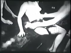 threesome party including striptease - circa 60s tube porn video