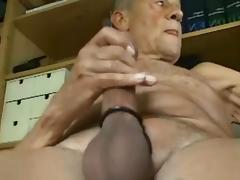 Grandpa cum on cam and taste his cum tube porn video