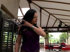 Slutty blindfolded babe enjoys having a cock inside her depths tube porn video