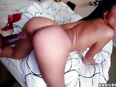 Cassandra Cruz takes black cock doggystyle tube porn video