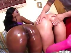 Big ass Luscious Lopez and Ashley Licks enjoy fucking tube porn video