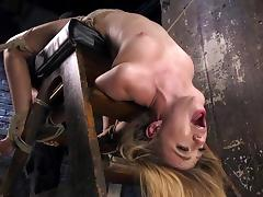 with filled pussy, head down tube porn video