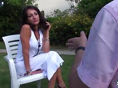 La Cochonne - Amateur French mature squirts while getting ass fucked tube porn video