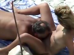 Nude Beach - Hot Little Tit Redhead Play & Fuck tube porn video