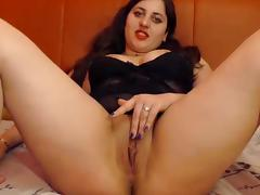 Fancy girl rubs her pussy on cam tube porn video