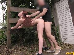 Zoe in Redhead from the Netherlands likes it rough - FakeTaxi tube porn video