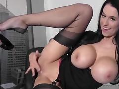 Big tit ecretary in stockings tube porn video