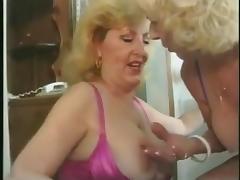 Granny Lesbians Pissing together tube porn video