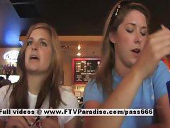 Lina and Danielle tender lesbians public flashing tube porn video
