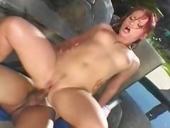 Horny pornstar Katja Kassin in incredible outdoor, redhead sex clip tube porn video