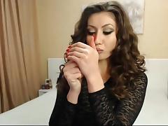 Smoking babe 4 tube porn video