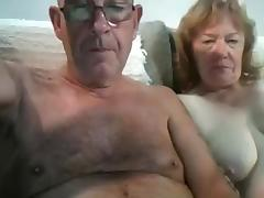 Man in 60s gets blown by wife on cam tube porn video