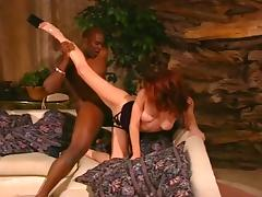 Redhead Gal Sucking & Fucking Black Guy tube porn video