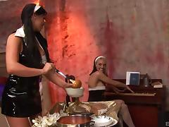 Busty nuns and the cocks that they always wanted to have a taste of tube porn video