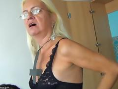 OldNannY Older Blonde and Teen Lesbian Strapon tube porn video