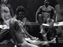Guys in sauna tube porn video
