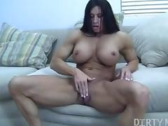 Angela Salvagno Masturbating Her Big Clit tube porn video