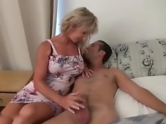 French Mommy Got for a Young Stud tube porn video