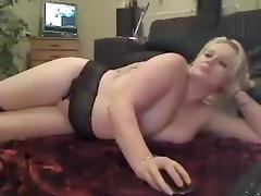 Pervert plays with his chubby wife on webcam tube porn video