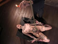 hot wax made her scream in pleasure tube porn video