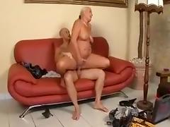 Busty chubby mature milf sucking hard cock and getting fucked roughly from horny man tube porn video