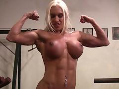 Muscular Pornstar Ashlee Chambers Naked in the Gym tube porn video