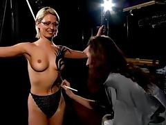 Jo Guest topless body-painted tube porn video