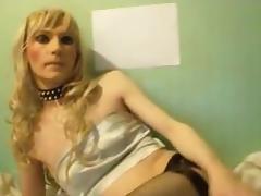 Crossdresser TV Sandra poses and sucks dildos tube porn video