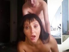 Russian mature mom sucked her boy in bedroom tube porn video