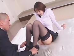 Crazy Japanese girl Misa Nishida in Exotic Cunnilingus, Stockings JAV clip tube porn video