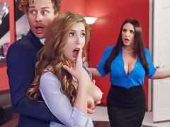 Angela White & Lena Paul & Michael Vegas in Porn Logic - Brazzers tube porn video