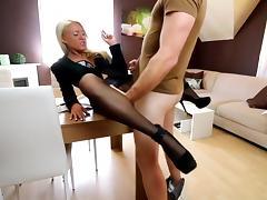 Pantyhose anal smoking ejecutive tube porn video