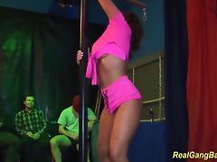 big boob babe Sexy Susi in a real gangbang tube porn video
