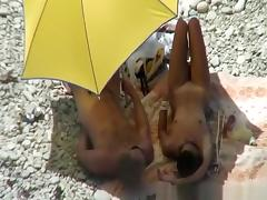 Normal day at the nudist beach tube porn video