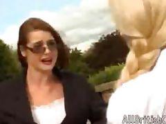 British Lesbians Get It On Outdoors british euro brit european cumshots swallow tube porn video