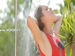 Hot garden splash and unique body tube porn video