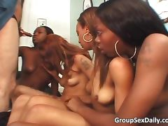 Incredible group sex party with black tube porn video
