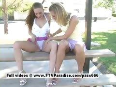 Ashley and Brianna tender lesbians having fun tube porn video