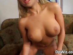Gorgeous blonde honey gets pussy and ass tube porn video