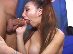 Big tits naughty asian hustler sucking white cock tube porn video