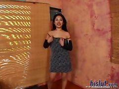 This Asian swallows cum tube porn video
