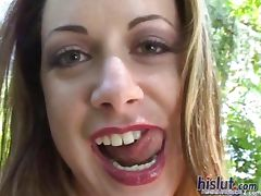 This slut swallows cum tube porn video