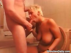 Blonde MILF and Asian slut are getting part4 tube porn video