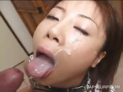 Asian hooker giving BJ gets facialized tube porn video