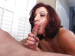 Redhead granny blowing cock for cum tube porn video
