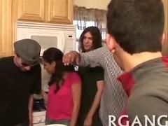 Wonderful group banging tube porn video