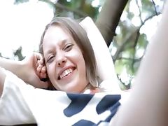 Beautiful skeletal girl Gloria opening tube porn video