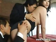 Unique Japanese slut teased tube porn video